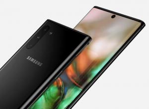 Samsung Galaxy Note 10 + design