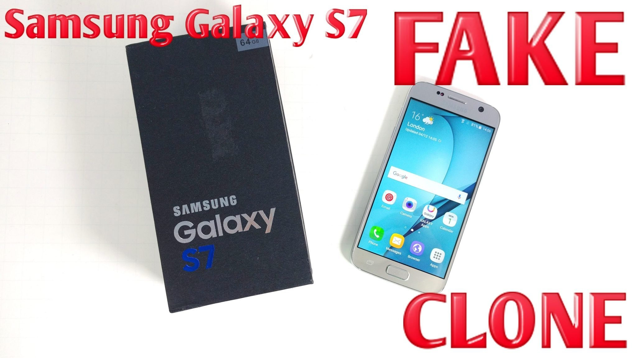 Photo of Fake Samsung Galaxy S7 Price