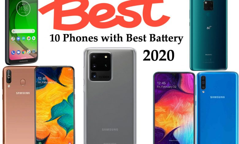 Phones with the best Battery